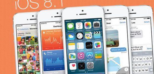 iOS 8.1 yayınlandı